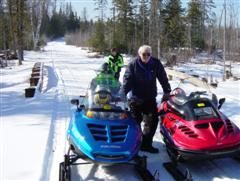 Snowmobiling in the Pigeon River Country